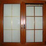 okno pcv z mleczną szybą