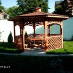 offener Gartenpavillon
