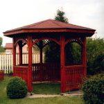 drewniany pawilon