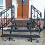 Metall Eingangstreppe