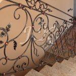 dekorierte Balustrade von Treppen