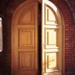 drzwi dwuskrzydłowe zaokrąglone
