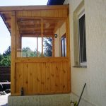 Dach am Gebäude / Veranda aus Holz
