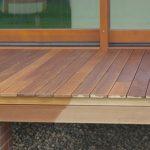 Terrasse mit Brettern