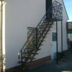 Metallwand Treppen