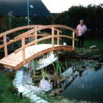 Wasserteich + Brücke