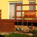 Terrasse mit einer Treppe